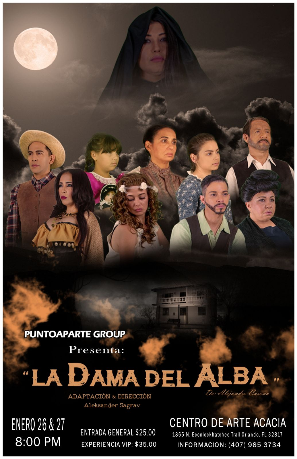 Central Florida emerging Hispanic theater! La Dama del Alba